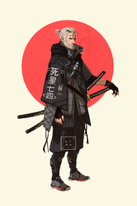 Geralt Of Rivia The Witcher 4k Minimalism Art