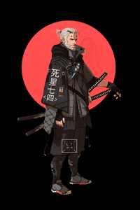 240x320 Geralt Of Rivia The Witcher 4k Minimalism
