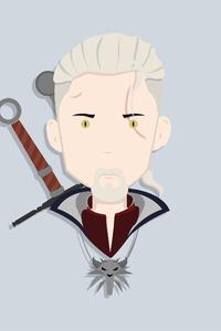 480x800 Geralt Of Rivia Witcher Minimalism 4k