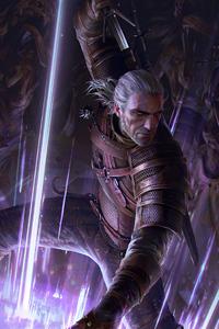 1125x2436 Geralt Yrden Gwent The Witcher Card Game