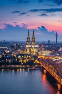 Germany Cologne Bridge Building City