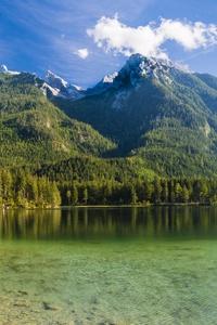 480x800 Germany Mountains Lake Scenery Hintersee 8k
