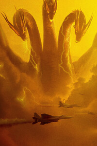 Ghidorah Godzilla King Of The Monsters 5k