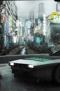 320x480 Ghost In The Shell Batous Car