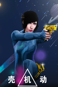 640x1136 Ghost In The Shell Fanart