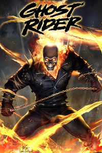 640x960 Ghost Rider 2020 4k Artwork