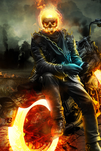 480x854 Ghost Rider 4k 2020 Artwork