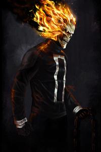 640x1136 Ghost Rider 4k Art