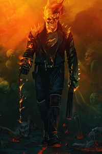 1080x2160 Ghost Rider 4k Artwork 2020