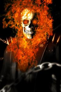 640x1136 Ghost Rider Art 4k