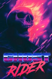 1080x2160 Ghost Rider Art4k