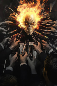 1080x2160 Ghost Rider Artwork 2020