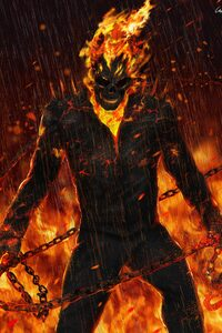 540x960 Ghost Rider Artwork HD