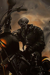 240x320 Ghost Rider Biker 2020