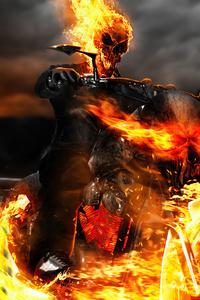 1080x2280 Ghost Rider Biker