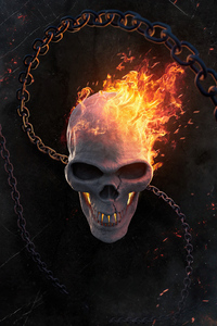 640x1136 Ghost Rider Burning 5k