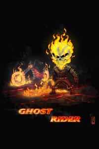 640x1136 Ghost Rider Chibi Art