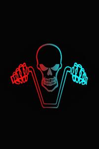 Ghost Rider Dark Minimalist 4k