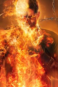 1440x2560 Ghost Rider Dean Winchester