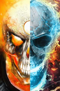 750x1334 Ghost Rider Fire And Water