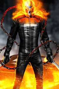 640x1136 Ghost Rider Fire