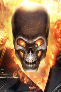 Ghost Rider Fire Mask 4k