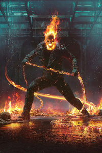 Ghost Rider Flame Mask 4k