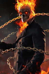 640x1136 Ghost Rider Flame Thrower 4k