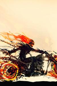 240x400 Ghost Rider Hellfire Rider 4k