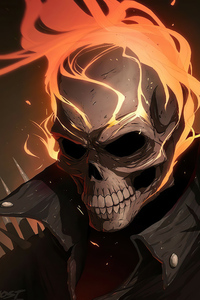 640x1136 Ghost Rider In Flames4k