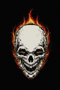 540x960 Ghost Rider Minimal Background 5k