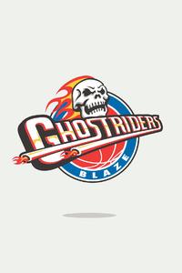 Ghost Rider Minimal Logo 4k