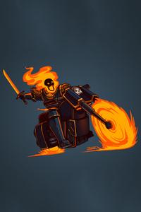 Ghost Rider Minimalism Hd