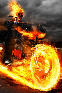 540x960 Ghost Rider On Bike Artwork