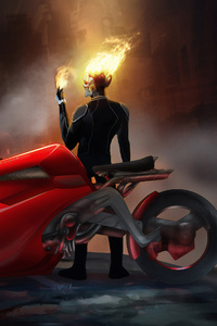 Ghost Rider On Bike
