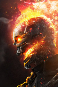 750x1334 Ghost Rider Superhereo Art