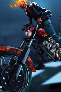240x320 Ghost Rider With Bike