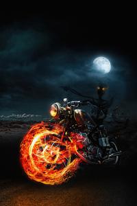 640x1136 Ghost Skull Rider 4k