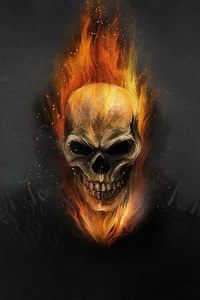 640x960 Ghostrider Art 4k