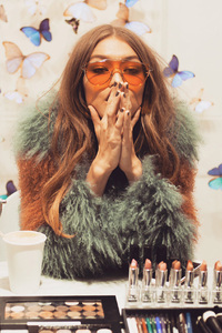 Gigi Hadid X Maybelline Palette Photoshoot