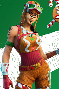 1440x2560 Gingerbread Raider Outfit Fortnite