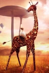 640x1136 Giraffe Dream Fantasy