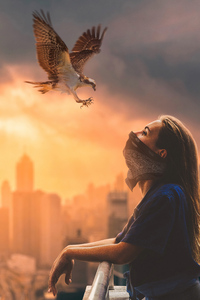 Girl And Hawk
