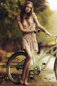 1440x2560 Girl Bicycle 4k