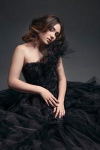 720x1280 Girl Black Dress Nose Ring 4k