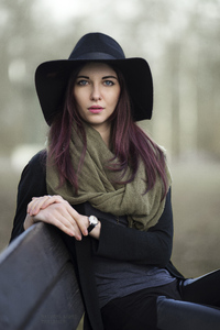 540x960 Girl Black Hat Nose Pierced 4k