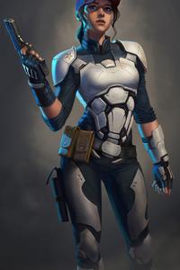 1440x2960 Girl Cyber Suit 4k