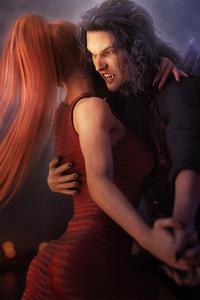 240x320 Girl Dancing With Vampire