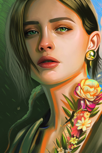 Girl Digital Art Illustration