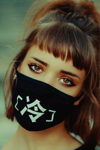 320x568 Girl Face Mask 5k
